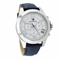 NEW Tommy Hilfiger Women's 1781850 Chelsea Multi-Function Blue Leather 1781850