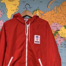 Vintage Levi's 1984 Olympics Transamerica Size XL Extra Large 84 Windbreaker Red