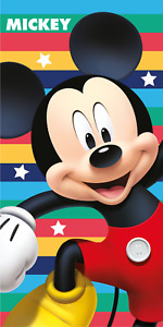 Disney Mickey Mouse Cool Stripes Children Beach Towel 100% Cotton