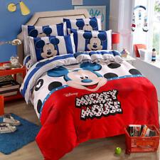 Disney Comforter Cover Sheet Pillowcases Bedding Set Mickey Mouse Stripe Cartoon