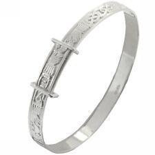 Nouveau Argent Bébés Celtique Irlande Claddagh Extensible Bracelet Bijoux