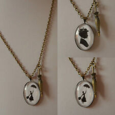 Glass Oval Stone Bronze Costume Necklaces & Pendants