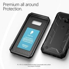 For Samsung Galaxy S8 Plus POETIC Case Revolution Shockproof Rugged Cover Black