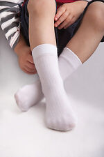 Kids Socks School Everyday Boys Girls Colours Blue White Silver Pink Colour