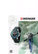 PUBLICITE ADVERTISING  2012   WENGER  collection montre SEAFORCE