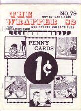 THE WRAPPER #79 - 1989 Non-sports cards fanzine - Cigarette cards, War cards