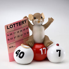 Charming Tails Take a Chance You Might Just Win Lottery Mouse Figure 4020532 New