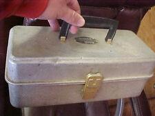 """BS1 Vintage RARE Umco model 102A aluminum tackle box tacklebox 5.5"""" x 13"""" x 5"""""""