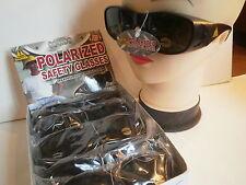36 Polarized SAFETY Sunglasses UV400 Black Plastic Smoked Lenses Unisex Adult