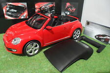 VOLKSWAGEN THE BEETLE Cabriolet Convertible rouge 1/18 KYOSHO 08812TR miniature