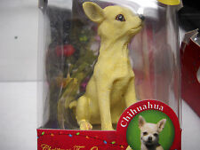 DOG Chihuaua*Sitting PUPPY*Hanging Christmas ORNAMENT*Collectible*PUP~FREE SHIP~