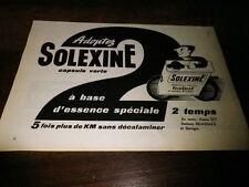 SOLEXINE - VELOSOLEX - Publicité de presse / Press advert !!! 1956 !!!