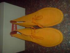 Nouveau CLARKS ORIGINALS Hommes ** Désert Bottes ** en daim orange 35 RARE ** UK 10.5 F