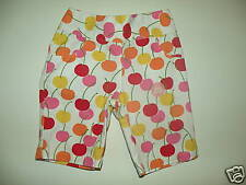 GYMBOREE CHERRY BABY WHITE w/ CHERRIES A/O CAPRI PANTS 3 6 NWT
