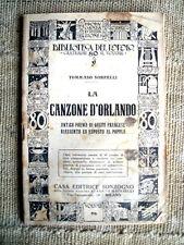 La canzone d'Orlando - Tommaso Sorbelli - Biblioteca del popolo 1937