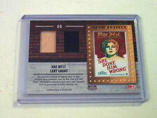 2009 Donruss Americana Dual Relic Mae West Carey Grant /500 She Done Him Wrong