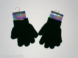2 PAIRS MAGIC GLOVES;1 SIZE TEENAGE-SMALL ADULT HAND SIZE  BLACK