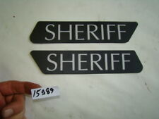 FL Touring Police saddlebag SHERIFF stickers decals NOS Harley FLHR FLH EPS15889