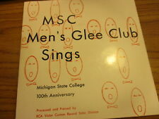 Original 1955 MICHIGAN STATE COLLEGE Men's Glee Club 100th 45 Fight Song VG/NM