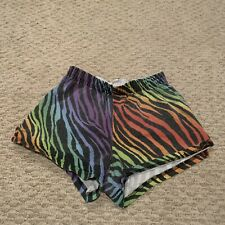 VTG Crazy Patterned All Over Colorful Cotton Shorts Soffe Women's XS