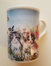 RARE BUTTERFLY EYES CAT MUG 1997 VINTAGE HTF VTG GREAT CONDITION SHIPS FAST
