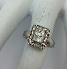 EFFY DIAMOND 14K WHITE GOLD RING SIZE 4.5