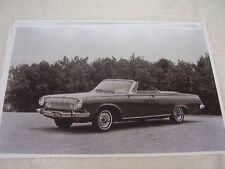 1963 DODGE POLARA CONVERTIBLE  11 X 17  PHOTO  PICTURE