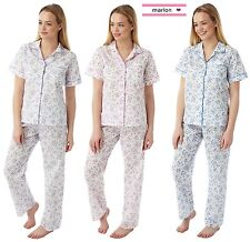 Marlon Poly Cotton Short Sleeve Pyjamas Mn14 Blue 24-26