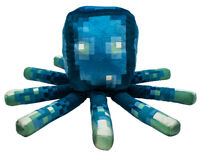 New 2020 MINECRAFT Earth Glow Squid 19in Pillow Glow In The Dark Plush