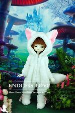 Cute White Fox Pajamas Animal Outfit For BJD 1/6 YOSD BB Doll Clothes AL14