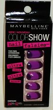Maybelline Color Show Nail Falsies Self Adhesive Nails PLUM SUNSET #40  24ct