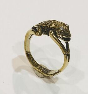 Size N Brass Frog Ring