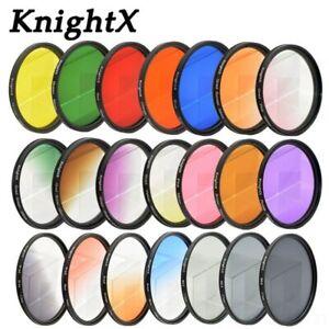 KnightX 24 color filter for nikon canon 18-55 d80 anamorphique lens eos 600d pho