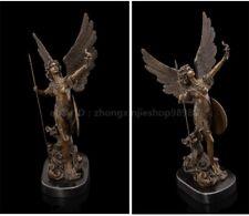 Bronze Marble Art Deco Sculpture Greece Mythical Wisdom goddess Athena statue