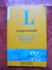 Langenscheidt Wörterbuch Wirtschaft Englisch <-> Deutsch Buch Bücher Langenbeck