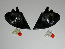 BMW 3 SERIES E46 SALOON / ESTATE NEW Pair Front Indicators Repeaters - SMOKED