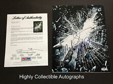 THE DARK KNIGHT RISES CAST 3 SIGNED 11X14 PHOTO PSA CHRISTIAN BALE ANNE HATHAWAY