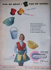 PUBLICITÉ 1956 USTENSILES PLASTIQUES GROSFILLEX - ADVERTISING