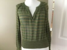 Missoni Womens Vintage Striped V neck Sweater Bloomingdales greens brown Italy