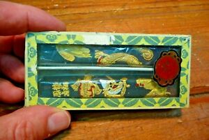 Box of 2 Vintage Chinese InkSticks Calligraphy Painting ink stick Soot? Charcoal