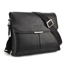 Men's Crossbody Briefcase Business Shoulder Bag Guy Satchel Bag Wallet Leather