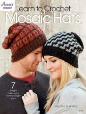 NEW LEARN TO CROCHET MOSAIC HATS 7 GREAT DESIGNS!!!