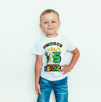personalised Birthday T- SHIRT/BODYSUIT Super mario Luigi Childrens, kids,