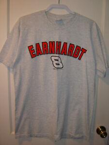 Vintage Chase Nascar #8 EARNHARDT Gray 1-Spot T-Shirt Large