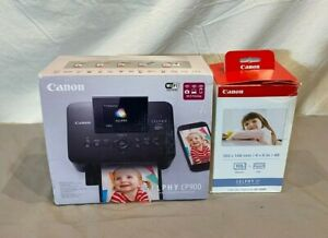 Canon SELPHY CP900 Digital Photo Dye Sublimation Printer +KP-108IN Ink/Paper NEW