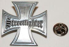 Streetfighter Eisernes Kreuz Iron Cross Biker l Ansteckerl Abzeichen l Pin 326
