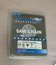 """16"""" Archer Chainsaw Chain 3/8"""" pitch FULL CHISEL .058 Gauge 60 DL drive links"""
