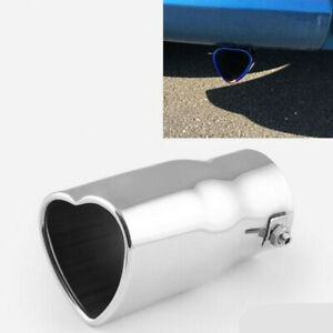 63mm Car Exhaust Pipe Tip Rear Tail Throat Muffler Stainless Steel Accessories