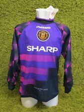 1996 1997 MANCHESTER UNITED GK GOALKEEPER FOOTBALL SHIRT UMBRO BNWT XS B RARE