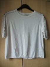 Ladies Per Una ivory pretty cropped jumper size 12 in a VGC